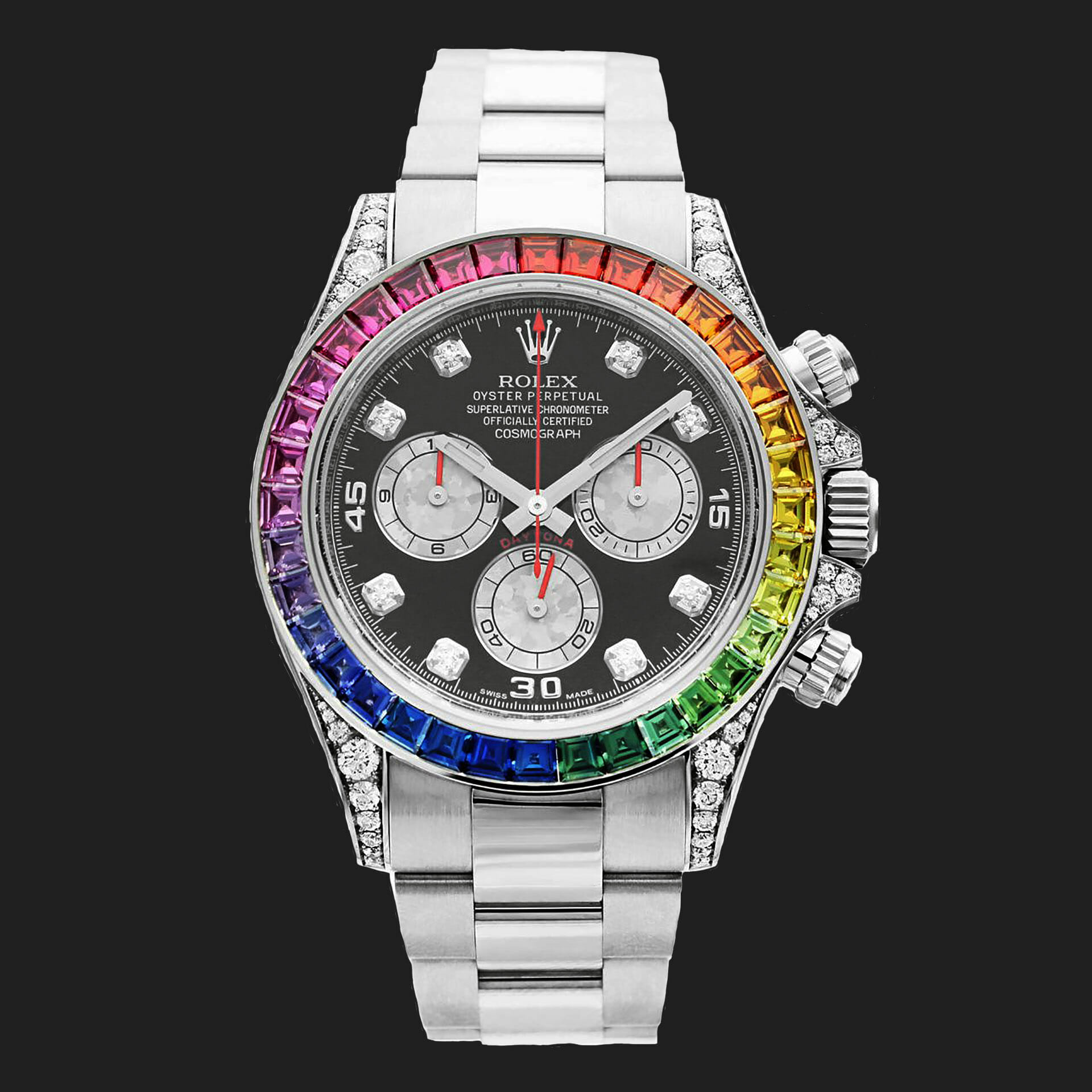 Rolex Oyster Perpetual Cosmograph Daytona Rainbow White Gold 2013